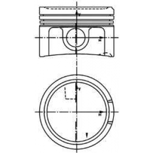 Поршень в комплекте на 1 цилиндр, STD 99933600 kolbenschmidt -