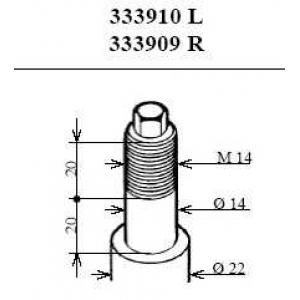 KAYABA 333910 Амортизатор передній