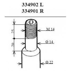Амортизатор 334902 kayaba - BMW 3 (E36) седан 320 i