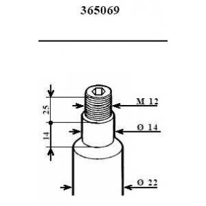 KYB 365069 Амортизатор KYB BMW 520i (E34) 1.88-7.90 F