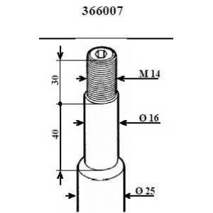 Амортизатор 366007 kayaba - BMW 5 (E34) седан 520 i