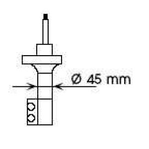 Амортизатор 632072 kayaba - NISSAN SUNNY III (N14) седан 2.0 D