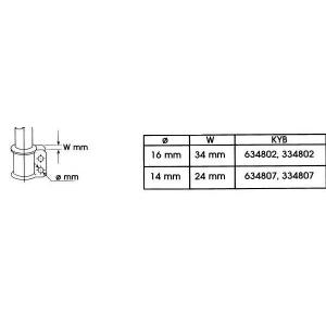 KYB 634802 Амортизатор масляний