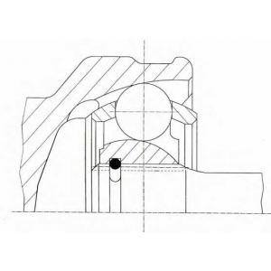 Шарнирный комплект, приводной вал 305005 loebro - KIA CEE'D Наклонная задняя часть (ED) Наклонная задняя часть 2.0