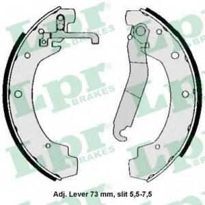 LPR 04570 Тормозные колодки барабанные