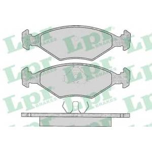 LPR 05P016 Комплект тормозных колодок, дисковый тормоз Фиат