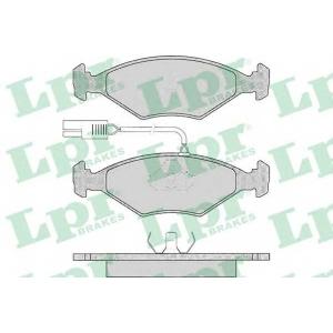 LPR 05P017 Комплект тормозных колодок, дисковый тормоз Фиат