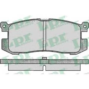 05p037 lpr Комплект тормозных колодок, дисковый тормоз MAZDA 626 седан 2.0