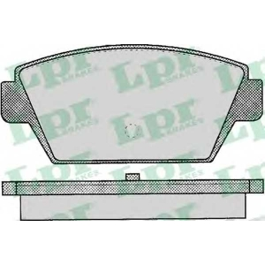 LPR 05P044 Тормозные колодки дисковые