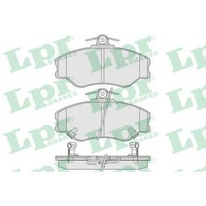 LPR 05P1009 Комплект тормозных колодок, дисковый тормоз Хюндай Н100
