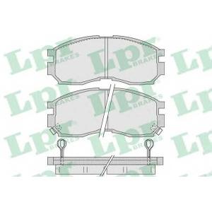 LPR 05P1012 Тормозные колодки дисковые