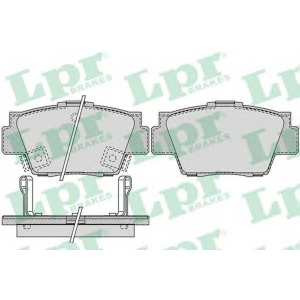 LPR 05P1038 Комплект тормозных колодок, дисковый тормоз Акура Нсх