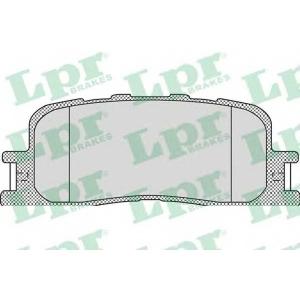 LPR 05P1115 Тормозные колодки дисковые