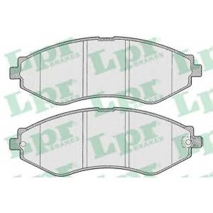 LPR 05P1208 Тормозные колодки передние Lacetti