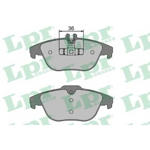 LPR 05P1274 Тормозные колодки дисковые