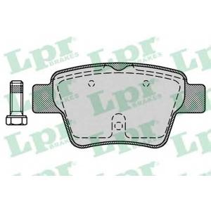 LPR 05P1278 Тормозные колодки дисковые