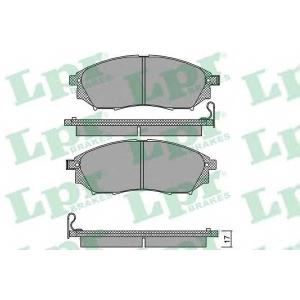LPR 05P1406 Тормозные колодки дисковые