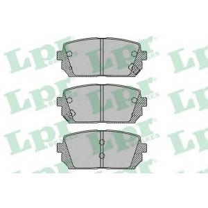 Комплект тормозных колодок, дисковый тормоз 05p1416 lpr - KIA CARENS III (UN) вэн 1.6 CVVT