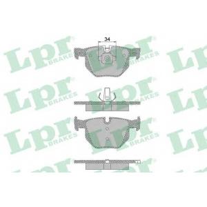 LPR 05P1472 Тормозные колодки дисковые