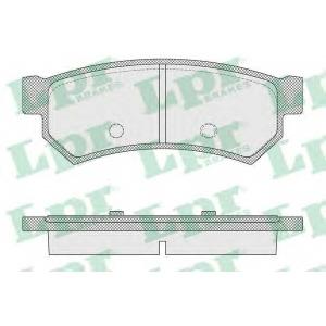LPR 05P1564 Тормозные колодки Lacetti