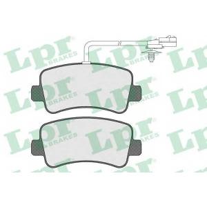 LPR 05P1578 Тормозные колодки