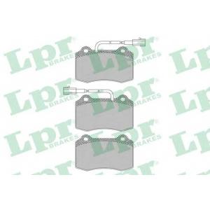 LPR 05P1665 Комплект тормозных колодок, дисковый тормоз Крайслер Випер