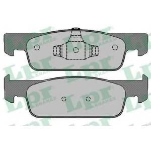 LPR 05P1702 Гальмівні колодки, дискові