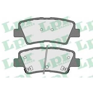 LPR 05P1710 Тормозные колодки дисковые