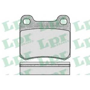 LPR 05P181 Тормозные колодки дисковые