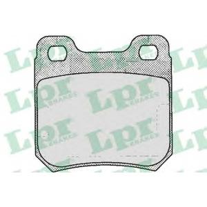 LPR 05P206 Тормозные колодки дисковые