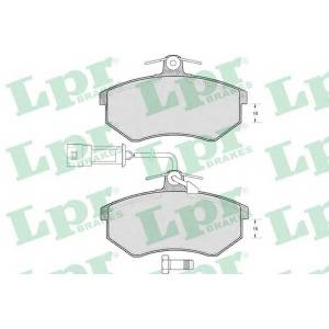 LPR 05P221 Тормозные колодки дисковые