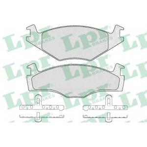 Комплект тормозных колодок, дисковый тормоз 05p224 lpr - VW GOLF I (17) Наклонная задняя часть 1.6 GTI