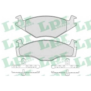 Комплект тормозных колодок, дисковый тормоз 05p225 lpr - VW JETTA II (19E, 1G2, 165) седан 1.3