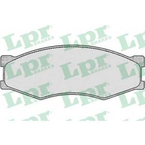 Комплект тормозных колодок, дисковый тормоз 05p264 lpr - NISSAN BLUEBIRD (U11) седан 2.0 i