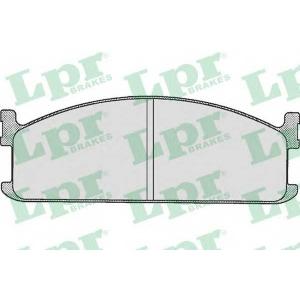 LPR 05P284 Комплект тормозных колодок, дисковый тормоз Исузу Мидиан