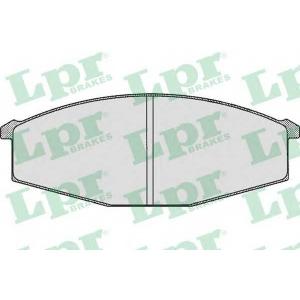 LPR 05P289 Тормозные колодки дисковые