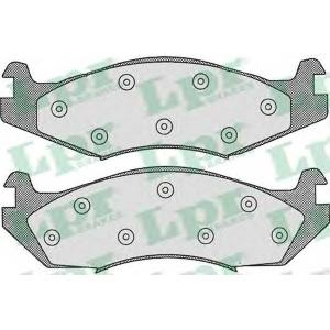 LPR 05P312 Комплект тормозных колодок, дисковый тормоз