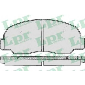 LPR 05P314 Комплект тормозных колодок, дисковый тормоз Дайхатсу