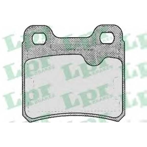 LPR 05P333 Гальмівні колодки, дискові