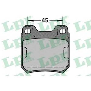 Комплект тормозных колодок, дисковый тормоз 05p334 lpr - OPEL SENATOR B (29_) седан 2.6 i