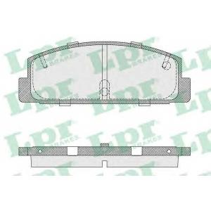 LPR 05P336 Тормозные колодки дисковые