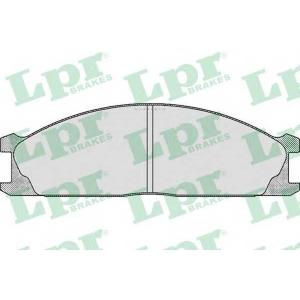 LPR 05P379 Комплект тормозных колодок, дисковый тормоз