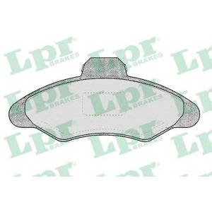 LPR 05P383 Гальмівні колодки, дискові