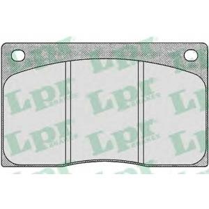 LPR 05P386 Комплект тормозных колодок, дисковый тормоз Ягуар