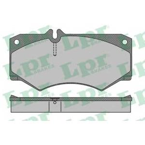 LPR 05P408 Тормозные колодки дисковые