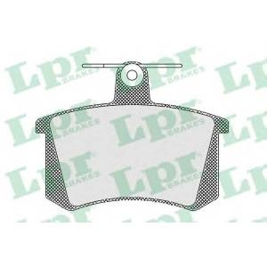 05p440 lpr Комплект тормозных колодок, дисковый тормоз AUDI 80 седан 1.8 CC quattro (85Q)
