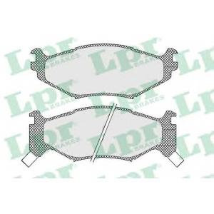 LPR 05P454 Комплект тормозных колодок, дисковый тормоз Крайслер Le
