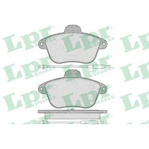 LPR 05P480 Комплект тормозных колодок, дисковый тормоз