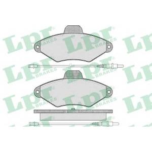LPR 05P487 Комплект тормозных колодок, дисковый тормоз