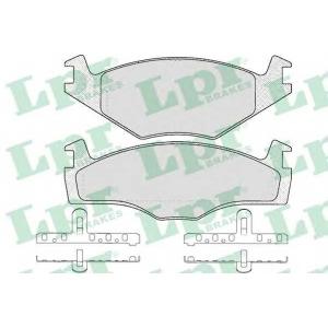 Комплект тормозных колодок, дисковый тормоз 05p591 lpr - VW POLO (86C, 80) Наклонная задняя часть 1.3 D